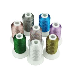 8 colori Bright Pearl Metallic ricamo Macchina thread come fili da ricamo macchina / mano grandi per il francese