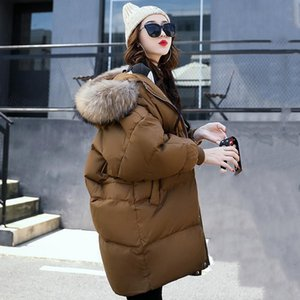 2017 Winter Women Hooded Coat Fur Collar Thicken Warm Long Jacket Female Plus Size Outerwear Parka Ladies Chaqueta Feminino S18101203