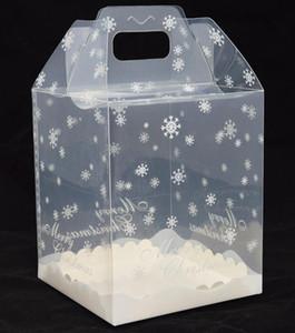 100 stücke 15x15x18 cm Schokolade Haus Transparent Paket Box Kuchen Box Lebkuchen Haus Boxen PP Lebensmittelbehälter