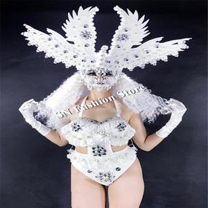 BC55 Weihnachten Disco Sänger trägt led Kostüme Bar Cosplay leuchtende Kleid Ballroom Dance beleuchtete Kleidungs-BH sexy led Rock Club-Leistung