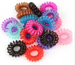 Atacado Linha Telefônica Elastic Hair Bands Cabelo Primavera Rubber Hair-corda laços de anel de desgaste de desgaste de Diâmetro Mulheres Titular Cauda Cauda 3 cm
