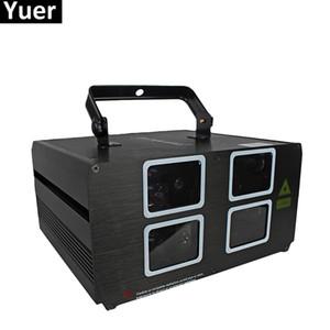 60W 4 عدسة أحمر أخضر أزرق RGB Beam Laser Light DMX 512 Professional DJ Party Show Club Holiday Home Bar Disco Stage Lighting