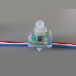 Bireysel DC5V 12V WS2811 Piksel Işık RGB Tam Renkli Kare Dağınık Dijital LED Piksel Modül Dize IP68 Su geçirmez Adreslenebilir