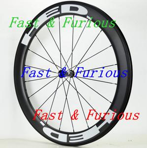 Ücretsiz Kargo !! Yol Bisikleti genişliği Karbon Tekerlekler 60mm Tek gariplik tübüler Yol Bisikleti Karbon Tekerlek 700C 25mm hed