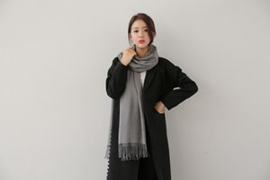 Autumn and winter ladies scarf imitation cashmere shawl bib dual-use two-face fashion is also warm