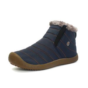 Hombres Invierno Nieve Zapatos Botas de tobillo ligero Cálido Impermeable Botas Mens Botas de lluvia 2016 Nuevos Botines peludos Zapatos para hombres C # 002