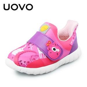 UOVO Bébé Casual Chaussures Filles Garçons Enfant Chaussures Respirant Sport Casual Sneakers Crochet De Mode Tissu Pour Enfants Taille 22-30