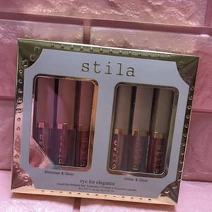 Фирменный набор жидких теней для век Stila для макияжа Stila Eye for Elegance 6 цветов Liquid Shimmer Блеск Highlighter Bronzer Золотой тени для век