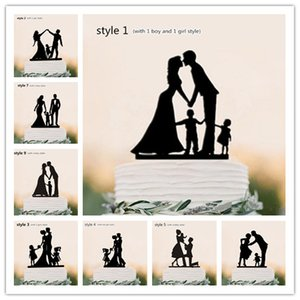 Topper Cake Family Style Personalizzato Classic Couple Wedding Party / Birthday Party / Anniversary / Bridal Shower Decorations