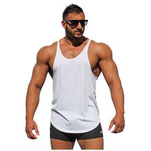 보디 빌딩 스트링거 탱크 탑 남자 빈 조끼 단색 체육관 singlets 적합성 언더 셔츠 남성 조끼 근육