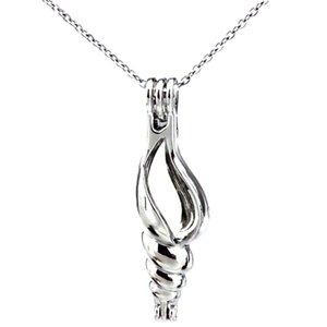 Gümüş Kabuklu Kabuk Okyanus Güzellik Yağı Difüzör Madalyon Kadınlar Aromaterapi Boncuk İnci Istiridye Kafes Kolye Kolye-Butik hediye
