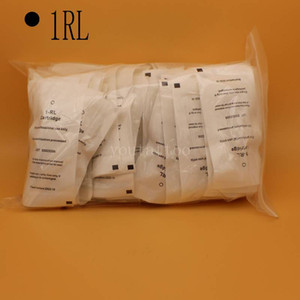 50pcs Box 1RL Cartridge Needles Disposable Sterilized Tattoo Permanent Makeup Needles Tips for Eyebrow lip Body Tattoo
