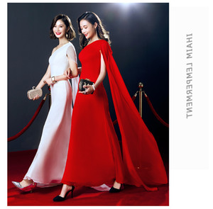 Elegant One Shoulder Simple Cheap Party Dresses Long Red Prom Dresses 2020 Evening Party Gowns