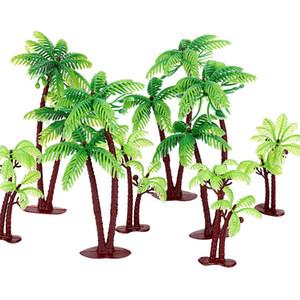 20PCS 크리 에이 티브 케이크 Toppers 코코넛 나무 모양 컵 케 잌은 Toppers 케이크 장식 파티 용품