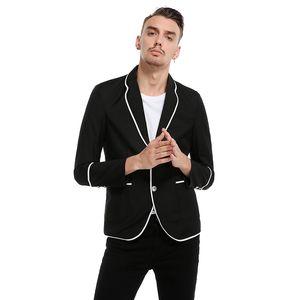 New Blazers Men Casual Jackets Coats Men Fashion Long Sleeve Turn Down Collar Jacket Male Suits Soild Slim Fit Coat Blazers z30