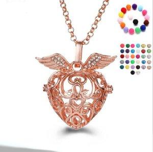 жемчужные аксессуары Luminous ожерелья Locket Эфирное масло Диффузор ожерелья Hollow из медальона ожерелье Cage подвеска