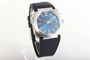 Fábrica de OB versão V3 Octo Solotempo 101963 Mens relógios octogonal 316L Aço 9015 automático de cristal de safira See-through caso de volta