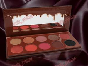 private label paleta da sombra grande capacidade 210g 22.5CM * 10CM * 1CM 10 mix de cores sem logotipo com paletas de espelho Chocolate de seda