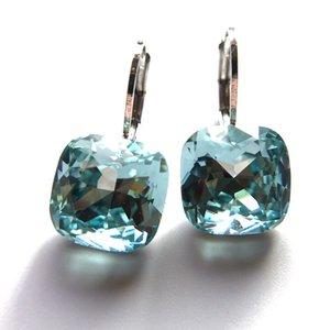 Los diseñadores cuadrado Boucle D'oreille Hecho con cristales de SWAROVSKI de joyería de las mujeres Stud Pendientes Moda mejor regalo de Navidad