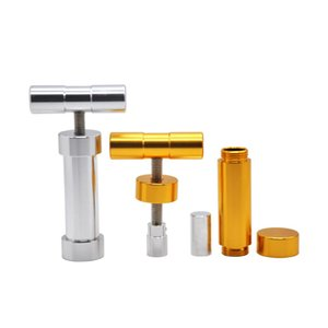 HORNET Aluminum Manual Heavy Duty T Handle Pollen Presser 110MM Press Compressor Herb Grinder Tobacco Spice Crusher Accessories