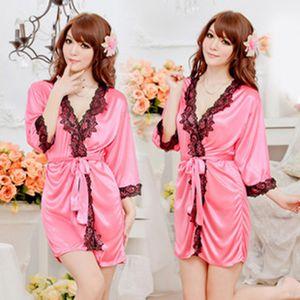 Taste Underwear Rose Lace Home Peignoir Sexy Sauna Peignoir Robe en soie pour femmes