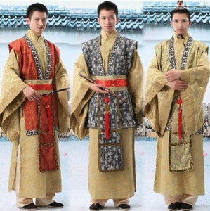 New Chinese Han Minister traditional Ancient costume Suit Robe Men's Satin Embroider Prince Emperor stage Dress Free shipping