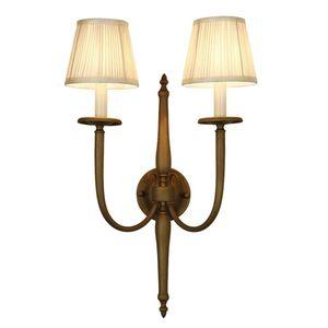 Lampada da parete a doppia testa americana Parete europea semplice da soggiorno retro in stile retrò