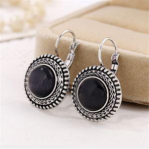 Fashion Boho Big Drop boucles d'oreilles pour les bijoux des femmes Vintage Silver Bohemian Long Earrings