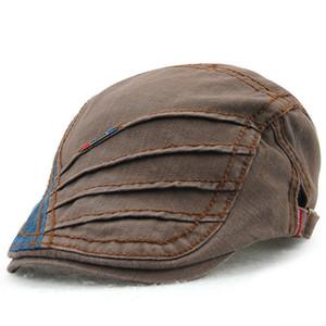 Nuevo Algodón puro Sombrero de boina de primavera verano gorras planas Hombres Mujeres Vintage Casquette Gorras Planas Boinas Berets Sombrero de hombre