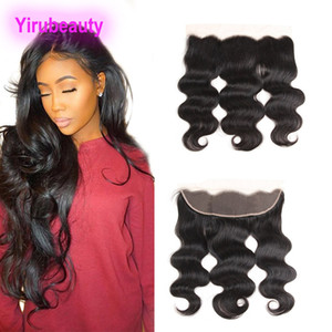 Malaysian 100% Unprocessed Human Hair Body Wave 13x4 Lace Frontal Ear To Ear Virgin Hair Remy Free Part Body Wave Closure