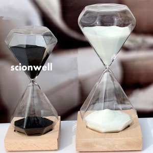 15 or 30 minutes Creative gifts, diamond hourglass base, lettering, Valentine's day, girlfriend gifts, home furnishing gifts, birthday gifts