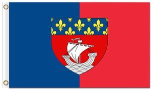Sıcak satış iki Paris şehir Fransız Bayrağı ile grommets 100D polyester Kaliforniya cumhuriyeti ucuz bayraklar