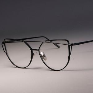 CCSPACE Marcos de gafas de metal de alta calidad para mujer Gafas de ojo de gato para mujeres Gafas de diseñador ópticas de marca MAGNÍFICA