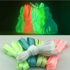 Sport Luminous Shoelace Athletic Sport Flat Shoe Laces Glow In The Dark Night Color Fluorescent Shoelace Mix Order