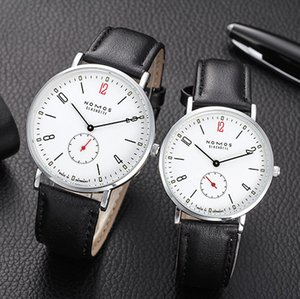 Mode NOMOS Uhren Neue Lederband Uhren für Männer Minimalism Glashütte NOMOS-Quarz-Uhren Freien Verschiffen