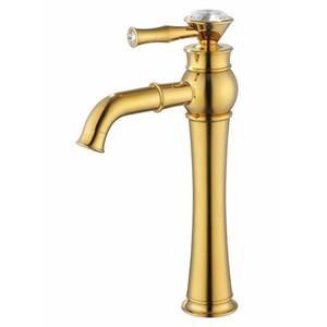 ROLYA Tall Bad Wasserhahn High Body Basin Waschbecken Mischbatterie Luxuriöse Goldenen Finish
