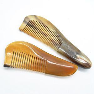 جديد 14 سنتيمتر الشارب أمشاط العنبر الطبيعي الثور القرن مشط الشعر لا ساكنة الرعاية الصحية فرشاة تصفيف الشعر مشط