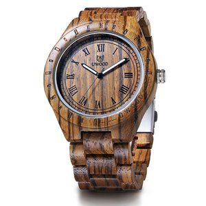 2017 Newest UWOOD Natural Wooden Watch Sandal Wood Wristwatch for Men Handmade Gift casual Waterproof watch for male business