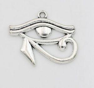 100Pcs lega Rah Egitto Eye Of Ciondolo Horus egiziano antico incanta il bronzo argento per monili collana che rendono a risultati 27x33mm