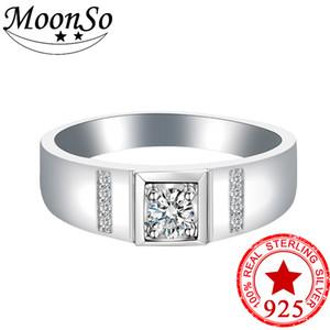 Toute vente2018 nouveaux produits 925 argent sterling mariage fiançailles hommes bague pour hommes doigt bijoux r4441s