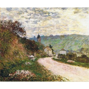Claude Monet 유화 Vetheuil canvas Reproction 고품질의 수공예