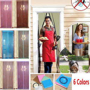 6 Renkler Manyetik Kapı Cibinlik Perde Mesh Ekran Windows Böcek Fly Bug Gazlı Bez Sivrisinek 90 * 210 cm Ve 100 * 210 cm WX9-283