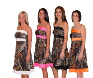 Strapless Camo A-Line Short Camouflage Bridesmaids Dresses Short Custom Lace Up Back Honor Of Maid Spring Vestidos De Bridesmaids Gowns