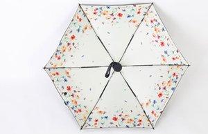 Yüksek Kalite Güzel Baskılı Ultra Hafif Beş-katlanır Şemsiye Tente Ultraviyole Geçirmez Kız Yaz Satılık Mini Şemsiye