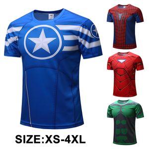 3d مطبوعة الرجال القمصان قصيرة الأكمام جولة الرقبة المنتقمون نقيب أمريكا قميص النساء الرجال للجنسين بطل القمصان XS-4XL 1805097