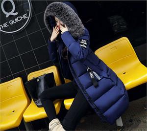2018 nouvelle mode hiver veste femme mince décontracté de haute qualité gros collier de fourrure femelle épaulette hiver manteau d'hiver pour femmes survivre