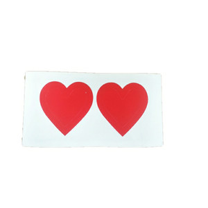 Double-Layer Royal Love Heart Stickers Red Heart Adhesive Stickers for Decorating Crafting and DIY