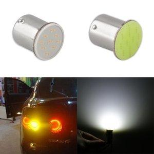 Ba15s Cob P21w LED 12 SMD 1156 12V LED 전구 RV 트레일러 트럭 내부 램프 1073 주차 자동 자동차 라이트 슈퍼 화이트