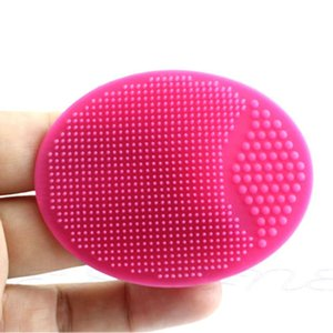 Лица отшелушивающая щетка младенческой ребенка мягкие силиконовые мыть лицо очистки Pad кожи спа ванна скраб очиститель инструмент