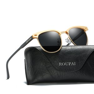 2018 Nuevos hombres Polarizer Day Driving Sunglasses Classic UV400 Full Frame marco pequeño aleación antireflection Sunglasses